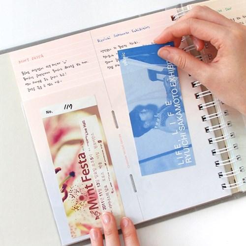 나의 기록 티켓북(100포켓)