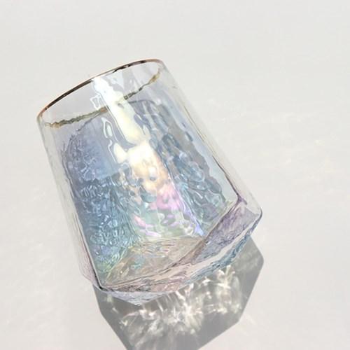 홀로그램 오로라 유리컵