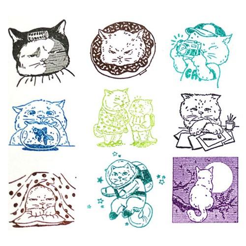 고양이삼촌 스탬프 시리즈 Vol.3 【15종】