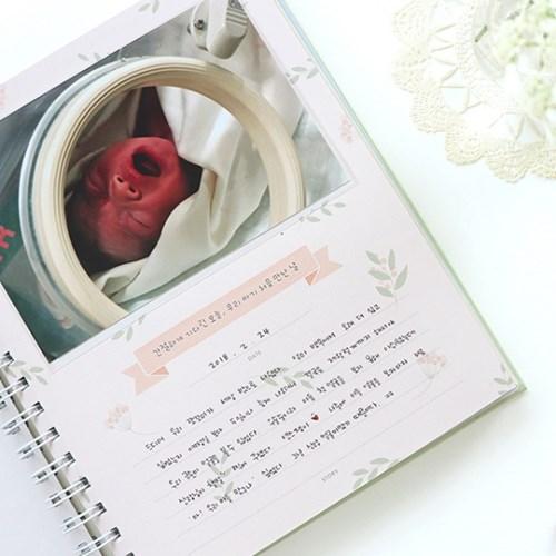 [처음육아] 성장앨범(기록앨범+4X6 포토포켓 40장)