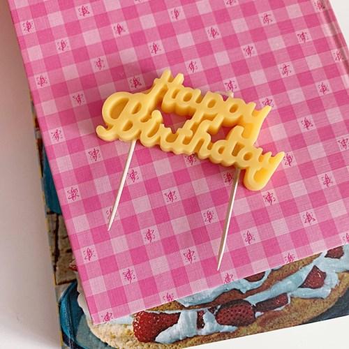 Birthday Sign Candle 벌스데이사인캔들(팝컬러)