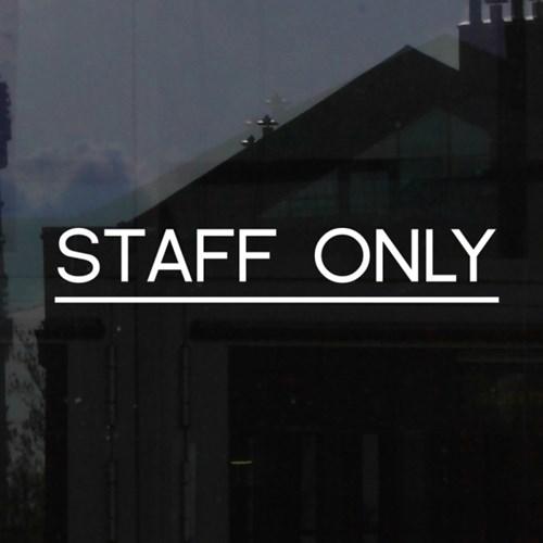 STAFF ONLY 직원전용 음식점 커피숍 스테프온리 안내표시 가게스티커