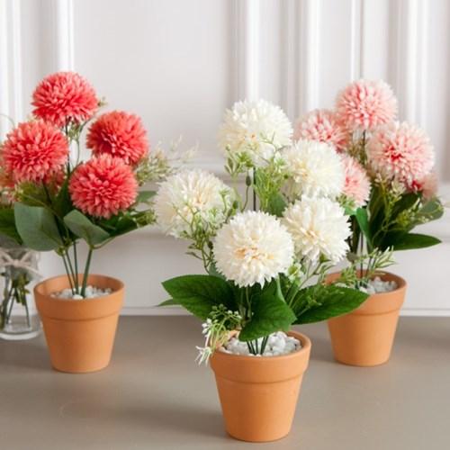 진짜 화분처럼 심는 조화 화분 6종 인테리어 꽃 장식_(1841254)