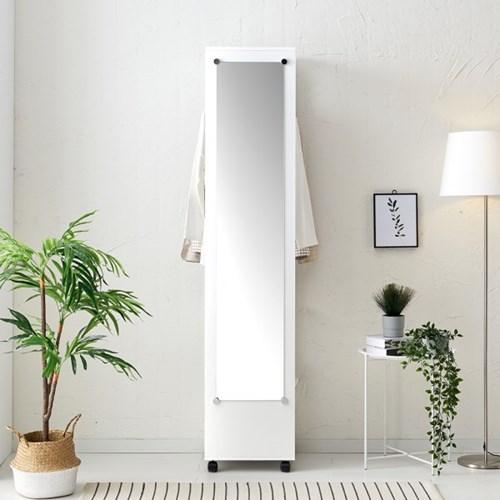 [데코마인] 모네 이동식옷장 거울형 행거장