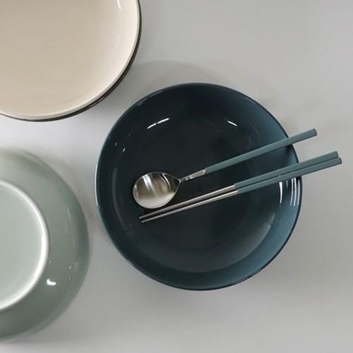 무스 샐러드볼 접시 4color 택1p