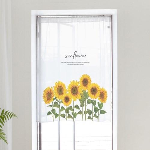작은 창문 가림막 문가리개 쉬폰 도어커튼 115x120cm 30종 모음