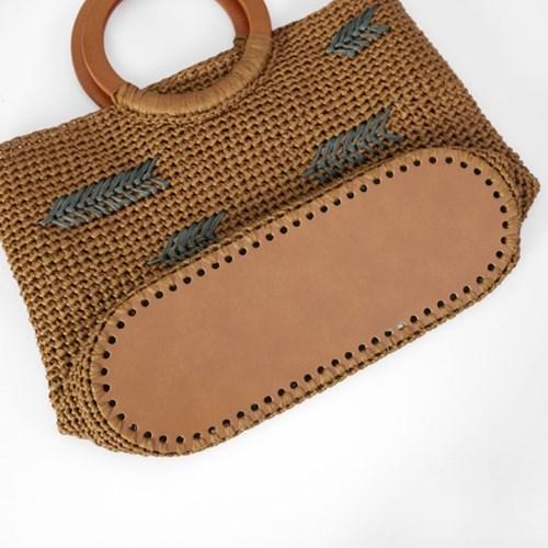 타원형 가방 바닥(大/브라운) - 가방 만들기 부자재
