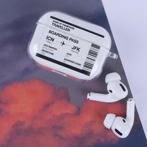 에어팟 비행기 티켓 프로 케이스 4color [투명 하드 항공 케이스]