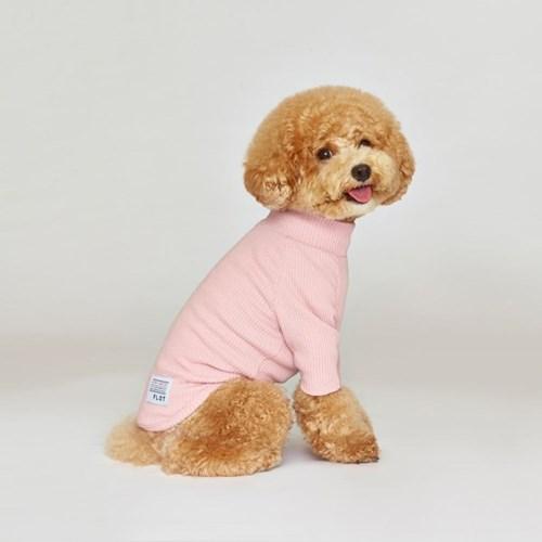 강아지옷 플로트 스탠다드 하프넥티셔츠 핑크_(898217)