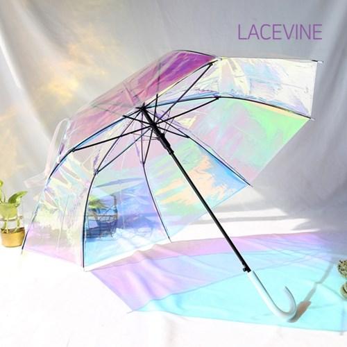 레이스빈 오로라 홀로그램 장우산 1단 자동우산