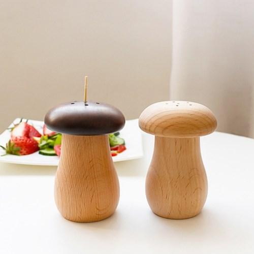 버섯 우드 이쑤시개통 이쑤시개 꽂이 보관통