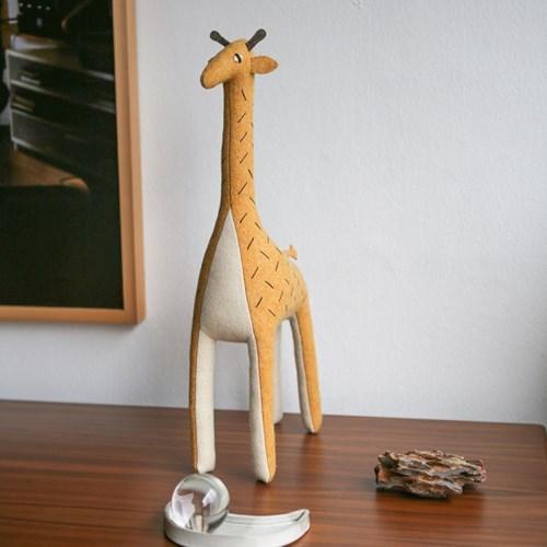 Ziffa, 누비안 기린 멸종위기동물 홈데코 인형 20x30cm_(1878881)
