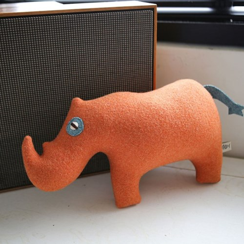 JONAH, 수마트라 코뿔소 멸종위기동물 홈데코 인형 28x3_(1878835)