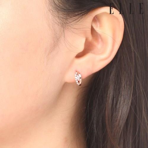 14K 큐빅 아이즈 원터치 귀걸이 (gold pin) ELGPEE251_(1046149)