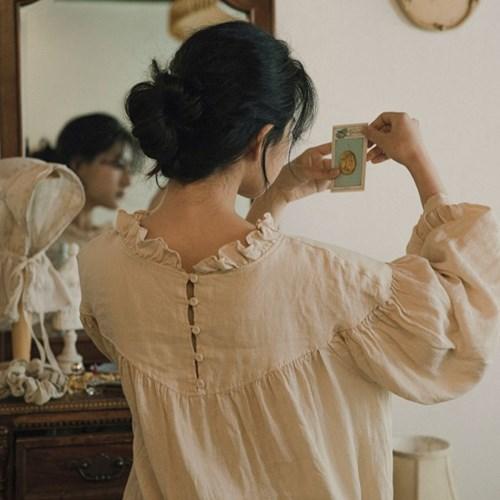 카를 린넨 드레스 : Karl linen dress