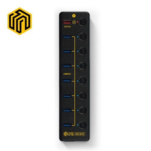 웨이코스 씽크웨이 CORE D72 QC3.0 충전겸용 9포트 허브