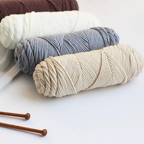양모 베이직 뜨개 털실 (4colors)_(2067622)