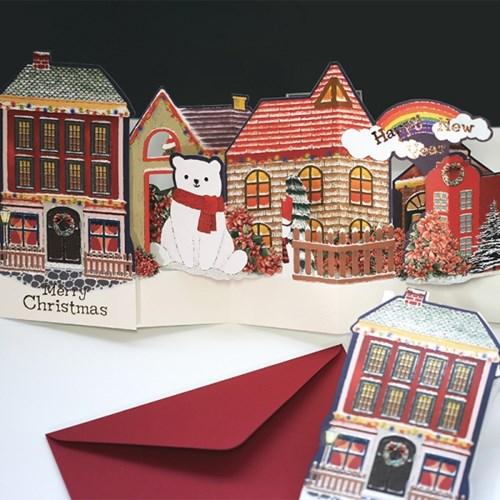 디원 크리스마스 산타 타운 팝업카드 (JX13)