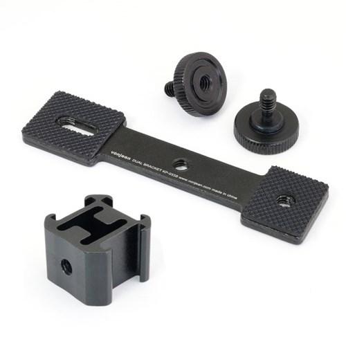 KP-033S 트리플 핫슈 듀얼 브라켓 (1인방송 조명 카메라 액션캠 등)
