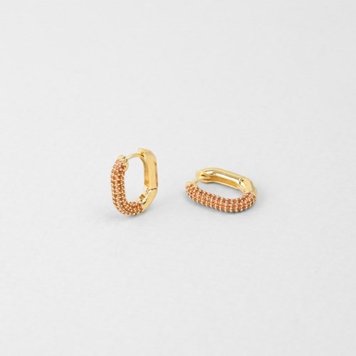 [쥬디앤폴] 제프리 미니 골드 오렌지 브라운 링 귀걸이 E51653