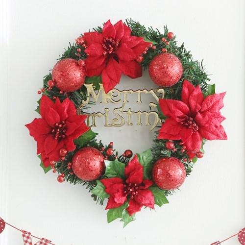 글리터리스(중)레드 크리스마스 트리 소품 데코 장식_(2791886)