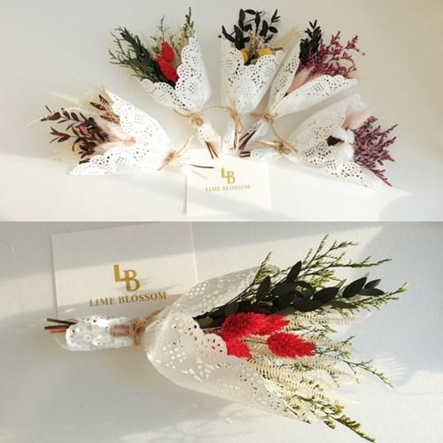 러블리 프리저브드 꽃다발+선물 박스 감사 사랑