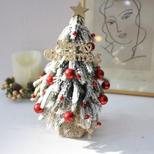 겨울 미니 크리스마스 트리 조화장식(3color)