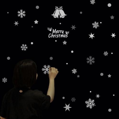 눈꽃장식 스티커 세트 크리스마스 벽트리 장식_(2804151)
