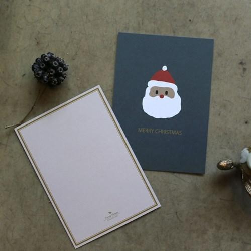해피산타 크리스마스 카드 2장 세트
