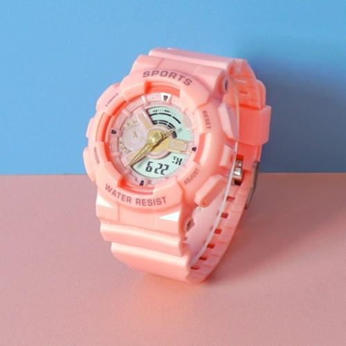 스포츠 디지털 학생 실리콘밴드 손목시계 GNB02-PK