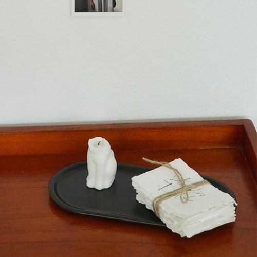 타원 마블 대리석 트레이 3color 세라믹 스톤 플레이트 받침대 쟁반