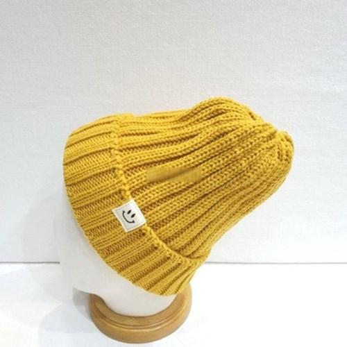 파스텔 패션 기본 무지 심플 패치 니트 비니 모자