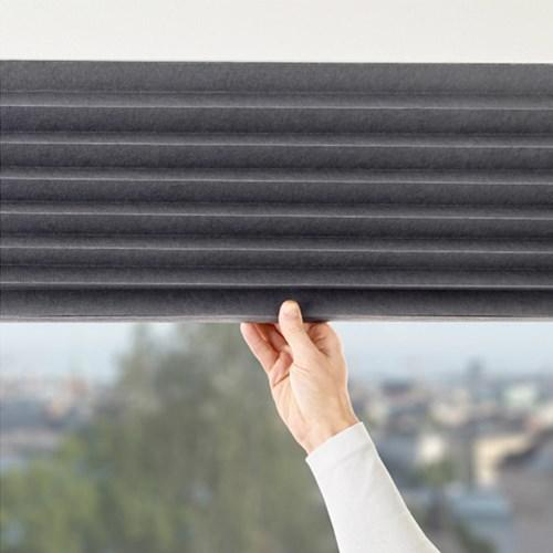 이케아 SCHOTTIS 주름식 암막 블라인드 (다크그레이/100x190cm)