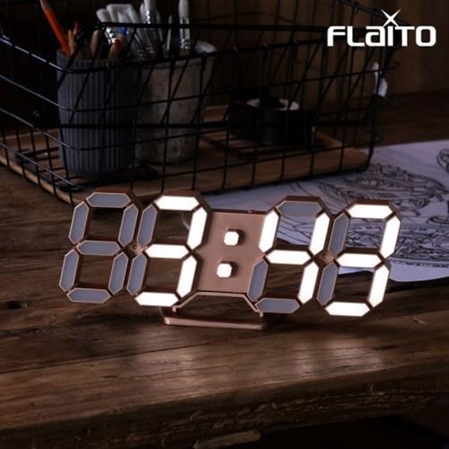 플라이토 3D LED 탁상 벽시계 시즌3 LG전구 25cm 골드