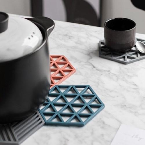 온나 실리콘 내열 컵 그릇 냄비받침대
