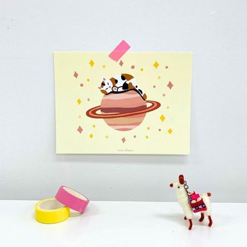 고양이 행성 엽서 인테리어 포스터
