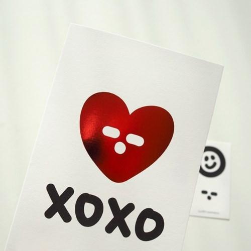 레드하트 XOXO 카드