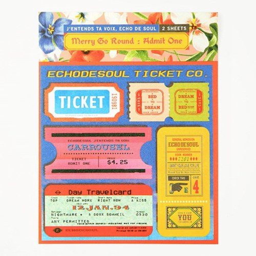 Merry Go Round - Deco Sticker (2type)