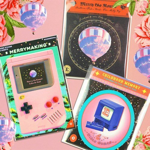 Merry Go Round - Deco Sticker (L Size, 3type)