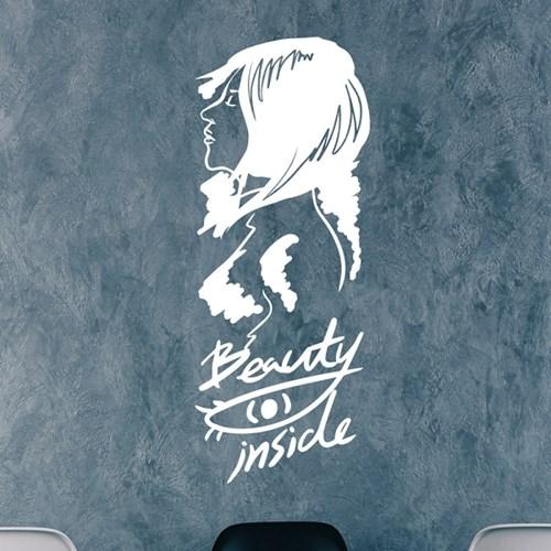 Beauty inside 일러스트 인테리어 스티커