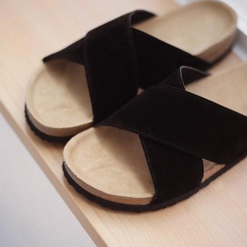 JFG MALL 엑스스트랩 스웨이드 슬리퍼 아르니아 (3.5cm)_(2072689)