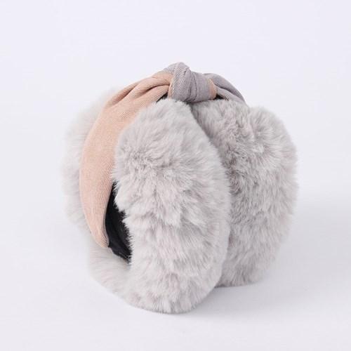 메리윈터 접이식 털귀마개(그레이)