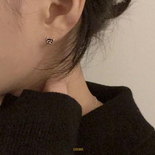 [925실버] 실버베어 귀걸이