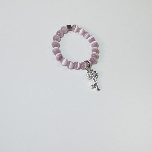 cats_purple_r 하트열쇠 캐츠아이 원석비즈반지