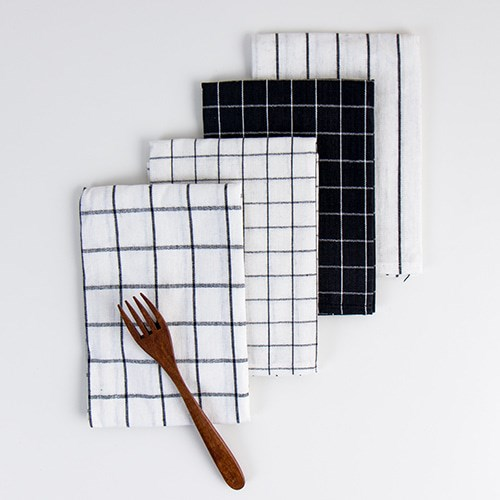 스트라이프 체크 주방타올 덮개 테이블매트 키친크로스 (4type)