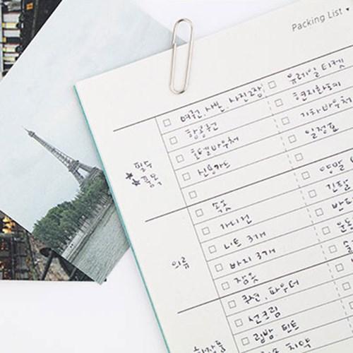 트래블 플래너 미니 여행 노트 재생지 수첩 48p