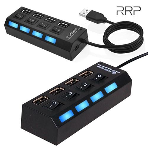 4포트 USB2.0 USB허브 on/off개별스위치 내장 선길이 30cm