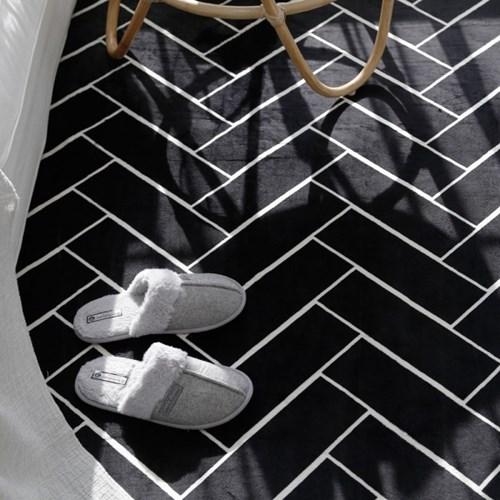 전자파없는 침대 거실 온열 전기매트_헤링본 135x180cm_(394013)