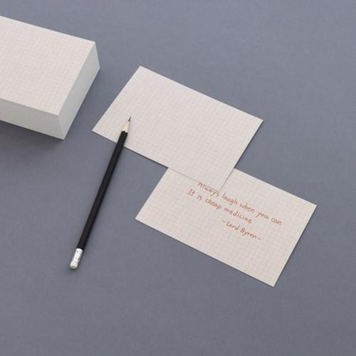 컬러 그리드 인덱스카드 100매 - 4x6