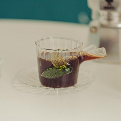 이태리 이첸도르프 그린우드 커피컵앤소서 리프_(1832152)
